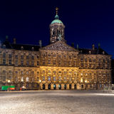Royal Palace, quadrato della diga, Amsterdam, Paesi Bassi Fotografia Stock Libera da Diritti