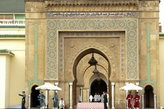Guards in front of Royal Palace Rabat, Morocco Royalty Free Stock Photography