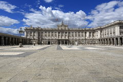 The Royal Palace Real, Madrid, Spain. A Picture of the Royal Palace Real ,  architecture of the old buildings, Madrid, Spain Royalty Free Stock Photography