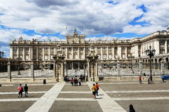 The Royal Palace Real, Madrid, Spain. A Picture of the Royal Palace Real ,  architecture of the old buildings, Madrid, Spain Stock Image