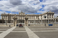 The Royal Palace Real, Madrid, Spain. A Picture of the Royal Palace Real ,  architecture of the old buildings, Madrid, Spain Stock Photos