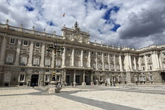 The Royal Palace Real, Madrid, Spain. A Picture of the Royal Palace ,  architecture of the old buildings, Madrid, Spain Royalty Free Stock Images
