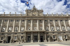 The Royal Palace Real, Madrid, Spain. A Picture of the Royal Palace ,  architecture of the old buildings, Madrid, Spain Stock Photos