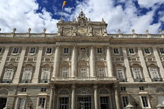 The Royal Palace Real, Madrid, Spain. A Picture of the Royal Palace ,  architecture of the old buildings, Madrid, Spain Royalty Free Stock Image