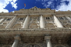 The Royal Palace Real, Madrid, Spain. A Picture of the Royal Palace ,  architecture of the old buildings, Madrid, Spain Stock Image