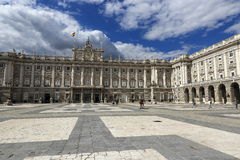 The Royal Palace Real, Madrid, Spain Stock Image
