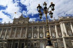 The Royal Palace Real, Madrid, Spain. A Picture of the Royal Palace ,  architecture of the old buildings, Madrid, Spain Stock Photo