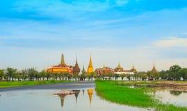 Royal palace reflect on water at dust.. Stock Photos