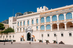 Royal palace, residence of Prince of Monaco.  royalty free stock photography