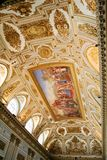 Royal Palace roof decoration. Roof decoration of a room in the Royal Palace of Caserta in Italy Stock Photography
