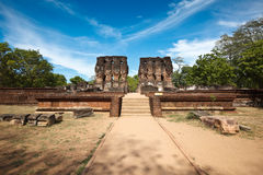 Royal Palace ruins royalty free stock photos