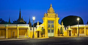 Royal Palace and Silver pagoda,Phnom Penh,Cambodia Stock Image