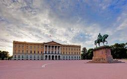 Royal Palace (Slottet) en Oslo, Noruega fotografía de archivo libre de regalías