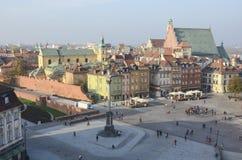Royal Palace square, Warsaw Royalty Free Stock Photography