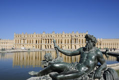 Royal palace and statues of divine Royalty Free Stock Photo