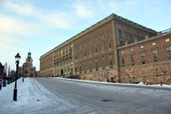 Royal Palace Stockholm Stock Photography