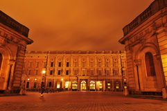 Royal Palace, Stockholm. Stockholm, Sweden - 12 Dec, 2011: Night view of Royal Palace (Stockholms slott or Kungliga slottet), the official residence and major royalty free stock image