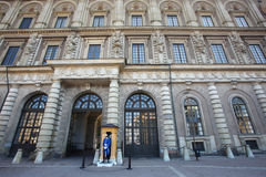 Royal palace in Stockholm. The royal palace in the Stockholm city royalty free stock photos