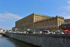 The Royal Palace in Stockholm. The castle in the old town a beautiful summer day Royalty Free Stock Photo