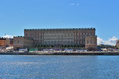 The Royal Palace in Stockholm Stock Photography