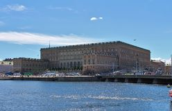 The Royal Palace in Stockholm Royalty Free Stock Photo