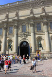 The Royal Palace in Stockholm. Residence of the Swedish kings Stock Image