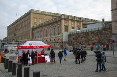 The Royal Palace in Stockholm, Sweden Royalty Free Stock Photos