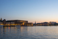 Royal palace Stockholm in twilight Stock Photography