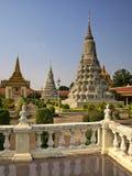 Royal Palace, Stupa, Camboya Foto de archivo libre de regalías