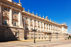 Royal Palace in sunny day . Madrid Royalty Free Stock Photos