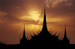 Royal Palace sunset Royalty Free Stock Image