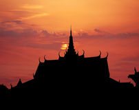 Royal Palace sunset Stock Images