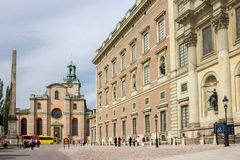 The Royal Palace of Sweden Royalty Free Stock Photo