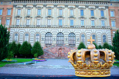 Royal palace in Swedish capital, Stockholm Stock Images