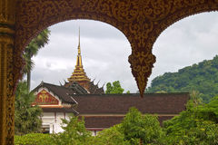 Royal Palace and Temple Haw Pha Bang Royalty Free Stock Photos