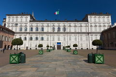 Royal Palace, Turin. Royal Palace facade, Turin symbol stock photo