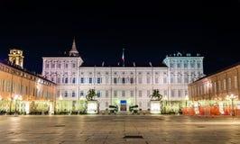 Royal Palace of Turin at night Royalty Free Stock Photos