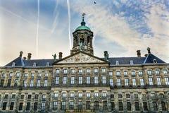 Royal Palace urzędu miasta Amsterdam Holandia holandie Zdjęcia Royalty Free