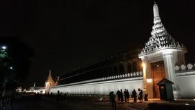 Royal Palace vägg på BANGKOK Thailand Royaltyfri Foto