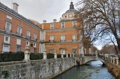 Royal Palace van Aranjuez. Madrid (Spanje) stock afbeelding