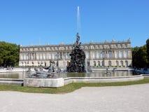 """Royal Palace van Herrenchiemsee met fontains - Beiers Versailles †""""Duitsland Royalty-vrije Stock Afbeeldingen"""