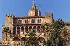 Royal Palace van La Almudaina - Palma de Mallorca - Spanje Royalty-vrije Stock Fotografie