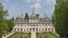 Royal Palace van La Granja DE San Ildefonso stock footage