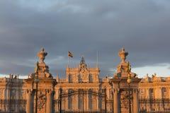 Royal Palace van Madrid Stock Afbeeldingen