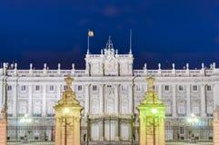 Royal Palace van Madrid, Spanje Royalty-vrije Stock Afbeeldingen