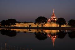 Royal Palace van Mandalay royalty-vrije stock fotografie