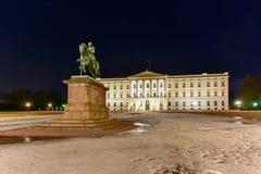 Royal Palace van Oslo Stock Afbeeldingen