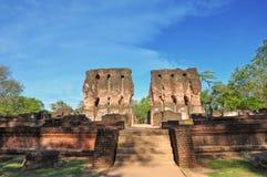 Royal Palace van oude stad Polonnaruwa, Sri Lanka Royalty-vrije Stock Foto