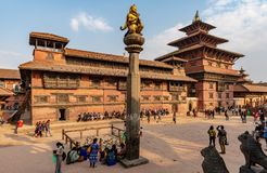 Royal Palace van Patan stock foto's