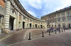 Royal Palace van Stockholm Stock Afbeeldingen